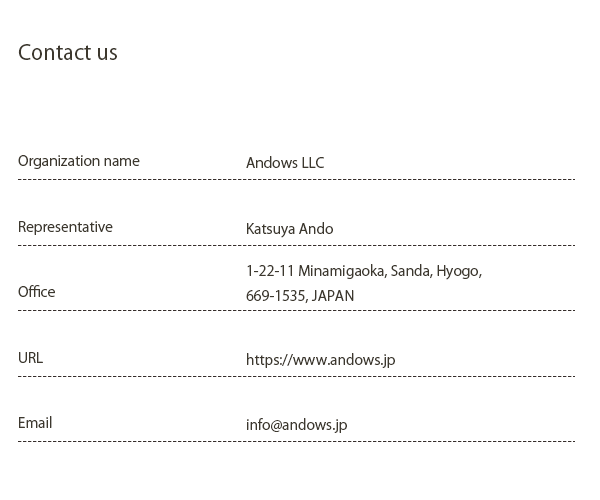 andows contact information